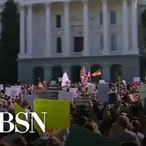 Thousands in California protest over COVID-19 vaccine mandate for students