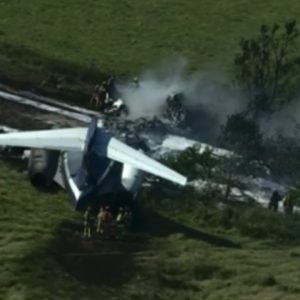 Watch Live: Plane crashes near Houston Executive Airport in Texas | CBSN