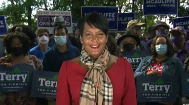Atlanta mayor hits campaign trail for Terry McAuliffe in Virginia governor's race
